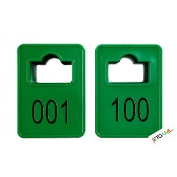 Jetoane 1-100 Verzi