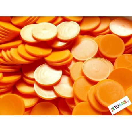 Jetoane rotunde, portocaliu, blank, 23 mm