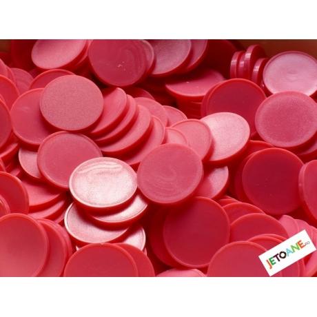 Jetoane rotunde, roz, blank, 23 mm