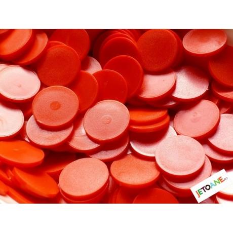 Jetoane rotunde, rosu, blank, 23 mm