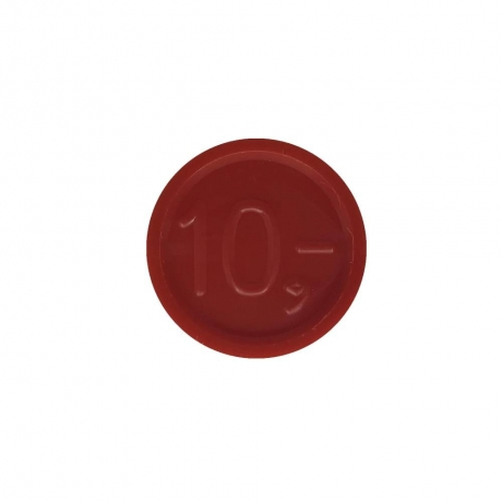 Jetoane de inchiriat, rosii, cifra 10, 23 mm
