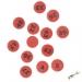 Jetoane loto 6/49, rotunde, rosu, 23 mm, 1-49