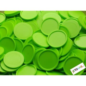 Jetoane garantie, plastic, 27 mm, verde
