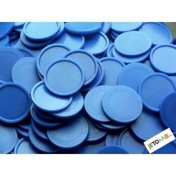 Jetoane garantie, plastic, 27 mm, albastru