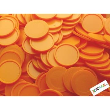 Jetoane garantie, plastic, 27 mm, portocaliu