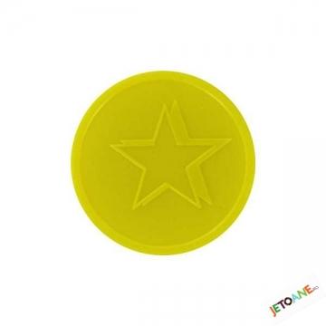 Jetoane Relief Star Galbene