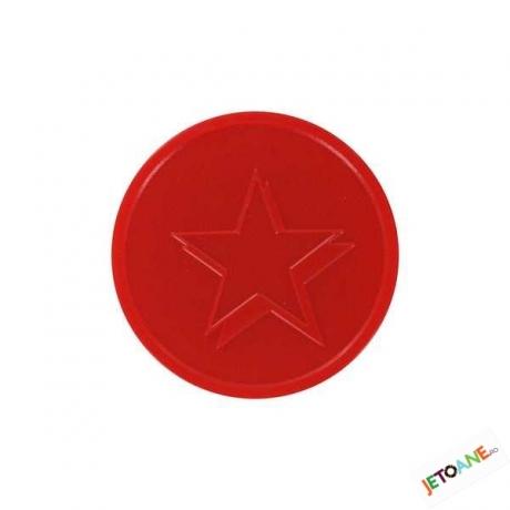 Jetoane Relief Star Rosii