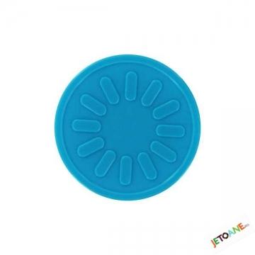 Jetoane promotii, raza soare, albastru, rotund, 29 mm